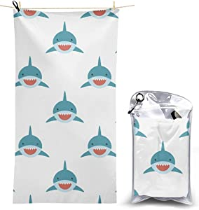 Beach Towels, Shark Seamless Quick Dry Towel Blanket, 27.5'' X 51'' Sand Free Towels Absorbent for Bath, Travel, Spa, Swim