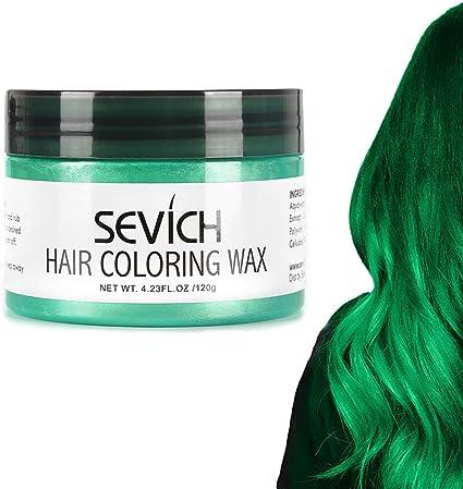 Sevich - Cera para el cabello, color barro, colorante para el cabello, color natural de los cabellos, ingredientes naturales lavables, temporal, 100 g ...