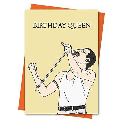 Tarjeta de cumpleaños divertida Freddie Mercury, tarjeta de ...