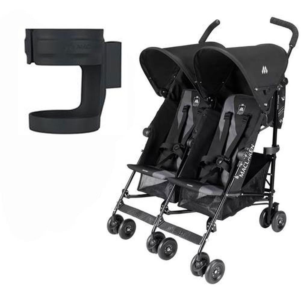 Amazon.com: Maclaren Triumph Doble de carbón negro carriola ...