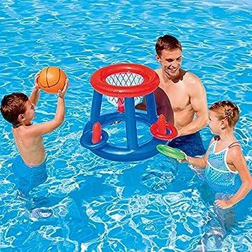 WXHYBB Hamaca de Agua Meta de fútbol Inflable Voleibol Baloncesto ...