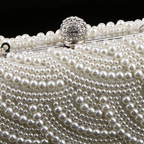 Gazechimp Borsa Da Donna Borsa Da Sera Con Pochette Da Sposa, Borsa Da Sera Con Catena, Borsa Con Pochette Di Perle Art