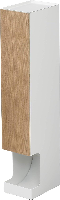 Yamazaki Home Rin Toilet Paper Dispenser – Bathroom Storage Holder Stand, Beige
