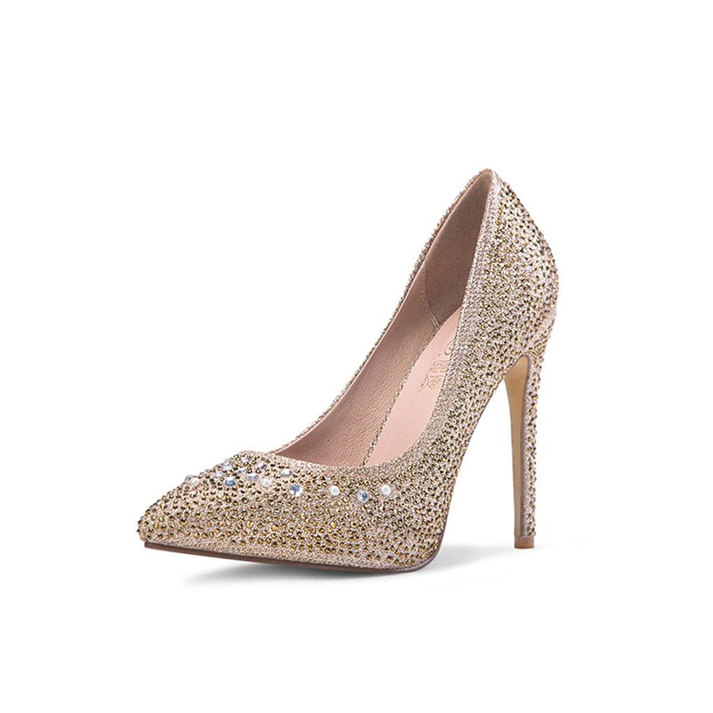 Hyun times 単一の靴深い口女性の防水プラットフォームブラック尖った靴で11.5センチメートルハイヒール B07BP6B48L 37|ブラック ブラック 37