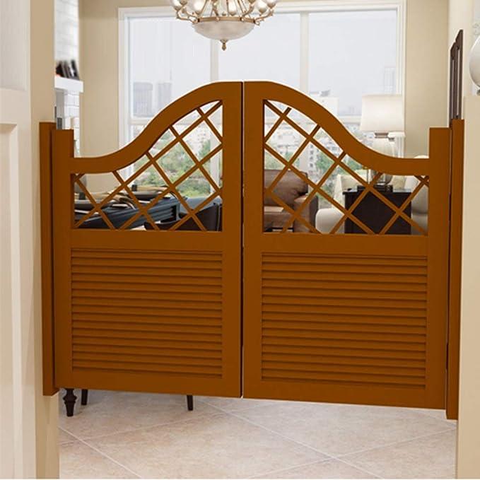 Wufeng Cafe Puertas Contrapuertas Moderno Madera Maciza Diseño Hueco Tallado Contiene Bisagra Salón Puerta para Contador De Salidas Taberna Corredor Habitación Decoración, Personalizable: Amazon.es: Hogar