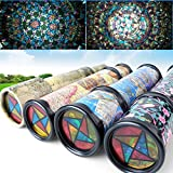 30cm Large Size Rotating Plastic Stretchable Magic Kaleidoscope Colorful World Educational Science Toy Interactive Toys Kids Gifts.