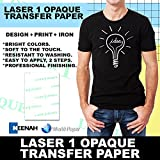 NEENAH ''LASER 1 OPAQUE'' (11''X17'') 100Pk Laser Printer Heat Transfer Paper for Dark Garments