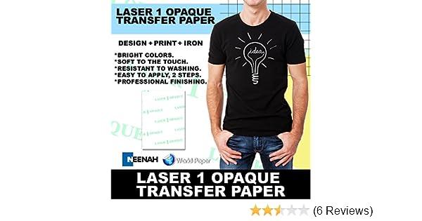 LASER TRANSFER PAPER FOR DARK FABRIC: NEENAH