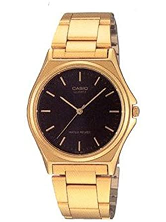 096c6ce9bd3 Image Unavailable. Image not available for. Color  Casio Men s MTP-1130N-1A  Classic Gold band with Black Index Dial Watch