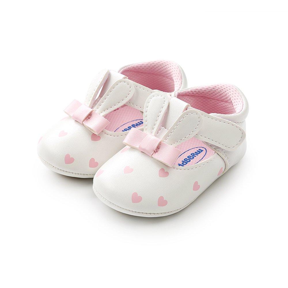 de85a63230499 ESTAMICO Chaussures Premiers Pas Bébé Fille Baskets Bébé en Cuir ...
