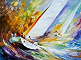 Regatta is a Limited Edition print from the Edition of 400. The artwork is a hand-embellished, signed and numbered Giclee on Unstretched Canvas by Leonid Afremov. Embellishment on each of these pieces will be slightly different, but the image itself ...