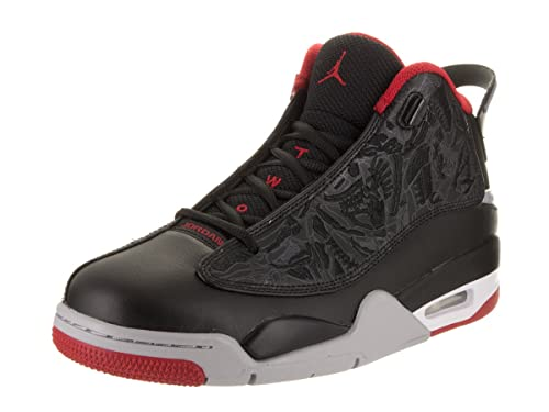 ebbb195564389 Jordan Air Dub-Zero Men s Black Gym Red Wolf Grey Mesh Basketball Shoes -9  m US  Buy Online at Low Prices in India - Amazon.in