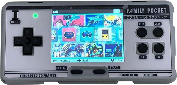 Blanco SZRendaysa Consola de Juegos port/átil Consola de Videojuegos 8 bits 2g Simulador de Memoria FC3000 Computadora de Mano Infantil Color Game PXPX7 Family TV Video Consolas