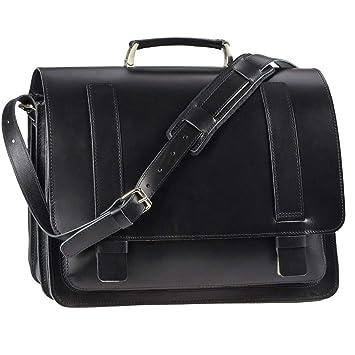 57440f2f87efd Ruitertassen Lehrertasche 42cm XXL Büchertasche Schultasche Aktentasche 3  Fächer 1 Vorfach Tragegriff Schultergurt schwarz