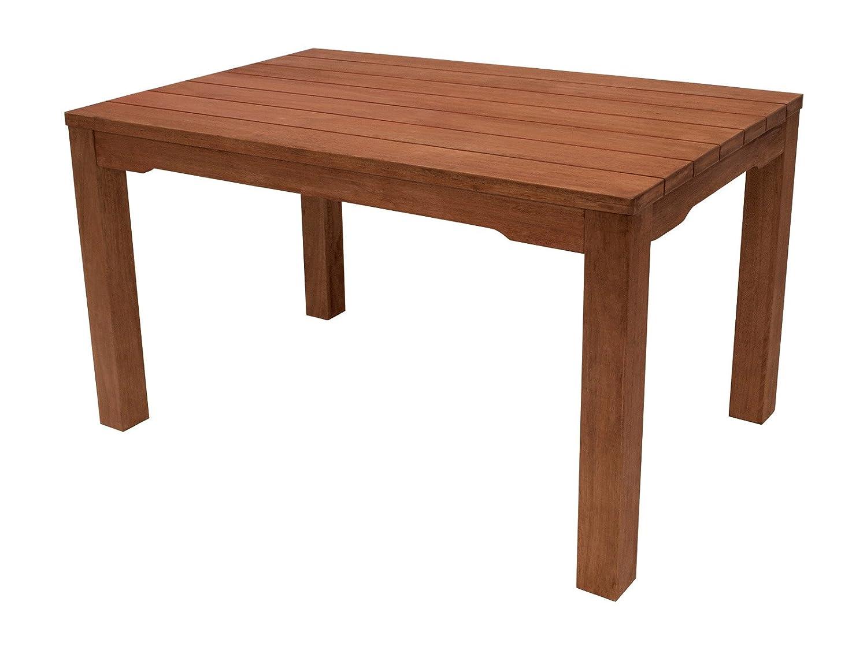 Tisch 130 x 80 Gartenmöbel Holztisch Eukalyptus Holz Gartentisch ...