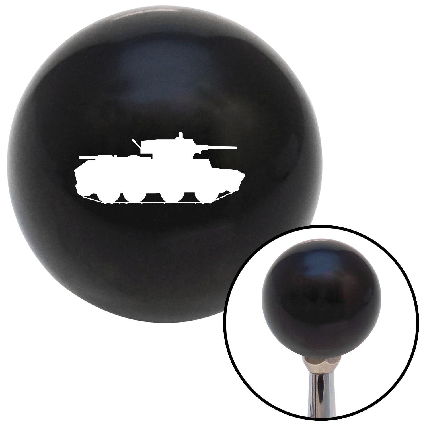 American Shifter 106997 Black Shift Knob with M16 x 1.5 Insert White Tank