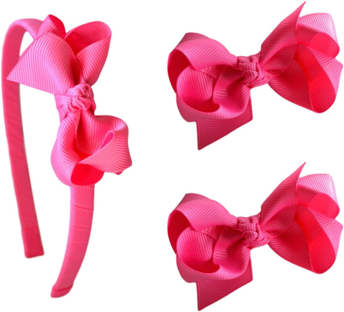 Cake Smash Bow Bright Colored Headband Girls Hair Accessory Neon Pink and White Headband Baby Headband Girls Hair Bow