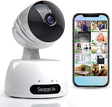 Amazon.com: SereneLife Cámara IP inalámbrica para interiores ...