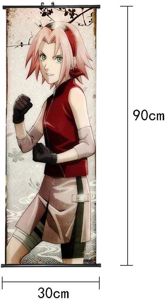 Kingmia Naruto Poster H02 Leinwand Wasserdichtes Gewebe H/ängende Gem/älde f/ür Home Wall Decor 30x90cm