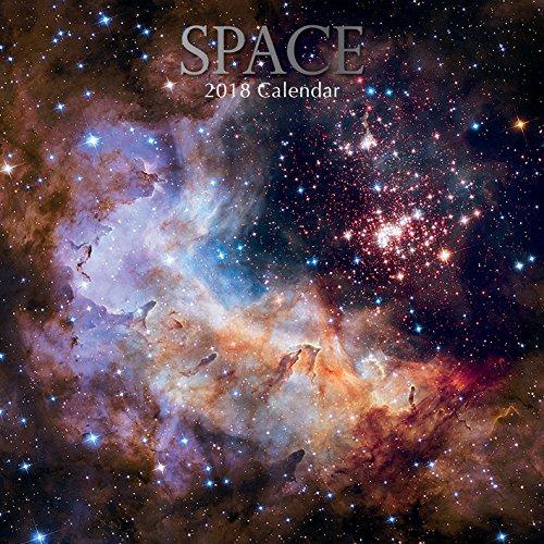 2018 Space Calendar - 12 x 12 Wall Calendar - With 210 Calendar Stickers