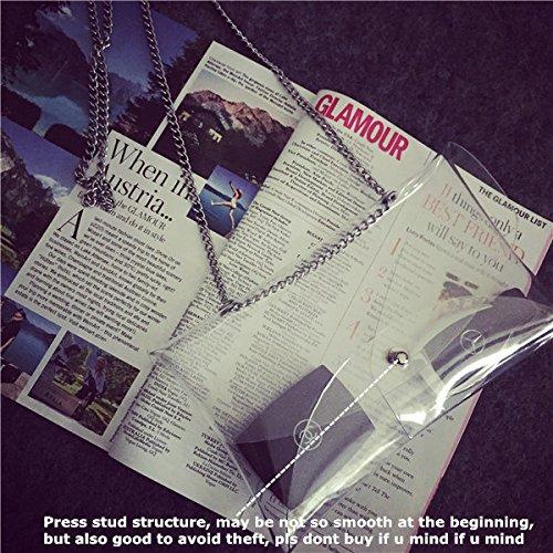 transparent PVC Sac Transparent en bandouli zarapack pour femme BZapqtxn