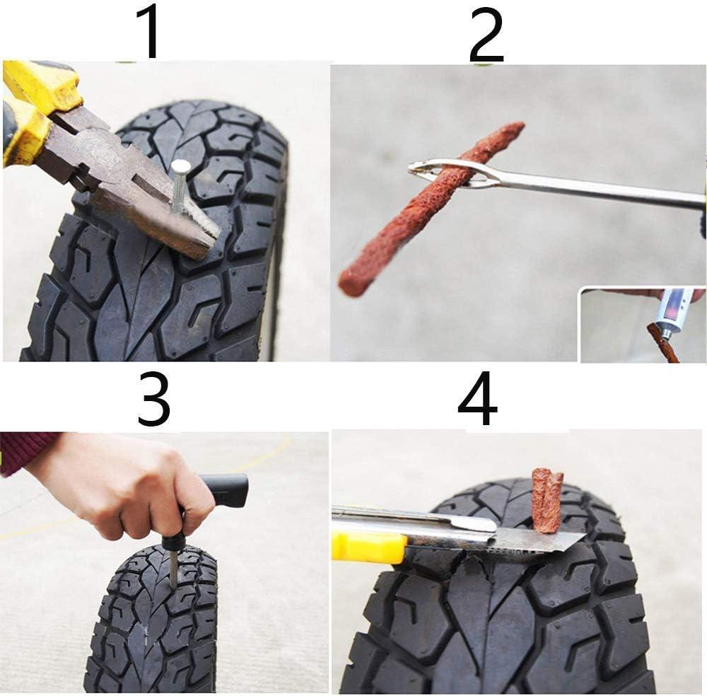 EEIEER Set de Reparación para Neumáticos Juego de 50 mechas Marron ...