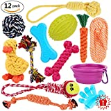 Dog Toys Set Pet Rope Toys Value Pack Puppy Christmas Gift Dog Cotton Chew Toy Assortment 12 Pcs For Small Medium Large Dogs