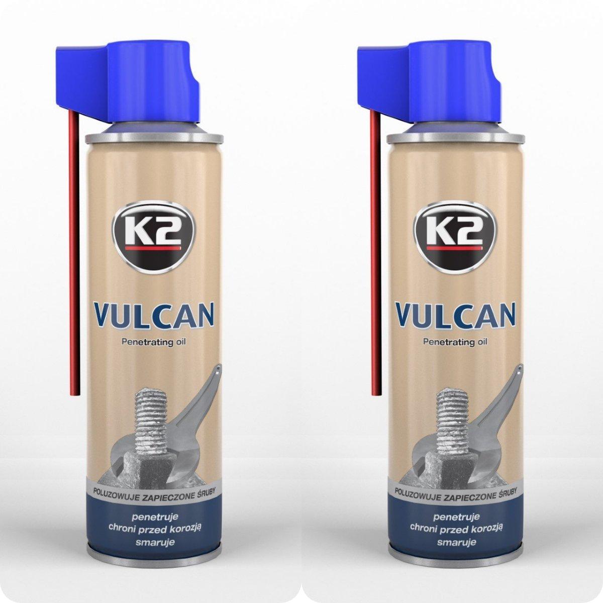 2パック| k2 Vulcan Penetrating Oil Spray ( 8.4 Oz )多目的合成Penetratingスプレー潤滑剤|に対する保護腐食| Ideal for高&低温度 B01HEH35YO
