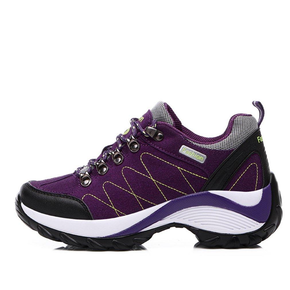 XI-GUA - Zapatillas de senderismo de Material Sintético para hombre 39|morado morado
