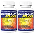 Lipozene MetaboUP Plus - 2 Bottles of Thermogenic Weight Loss Fat Burner Pills With Green Tea and Cayenne Extract - Energy and Metabolism Booster