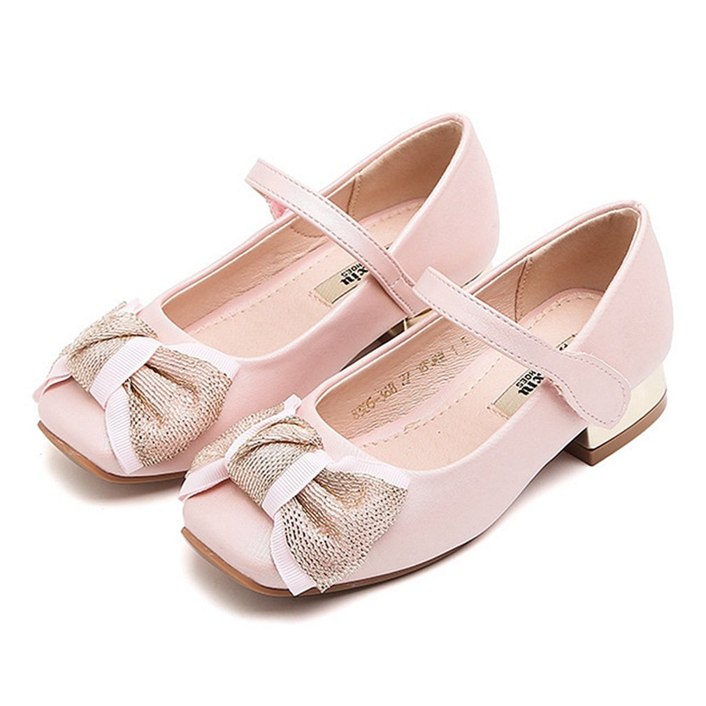 CYBLING Girls Bridal Ballet Flats Mary Jane Dress Shoes for Wedding Party (Toddler/Little Kid/Big Kid)
