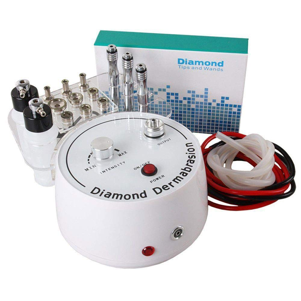 QiQibaby Microdermabrasion Machine, 3 in 1 Diamond Microdermabrasion Dermabrasion w/Vacuum & Spray Machine Facial Care Salon Equipment for Personal Home Use