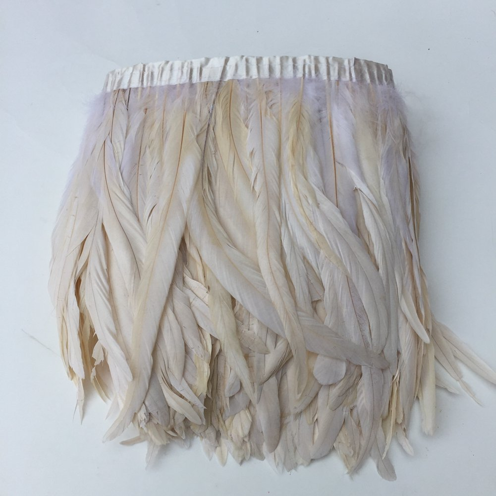 Shekyeon Rooster Tail Frim Coque Feather 2yards (off white)