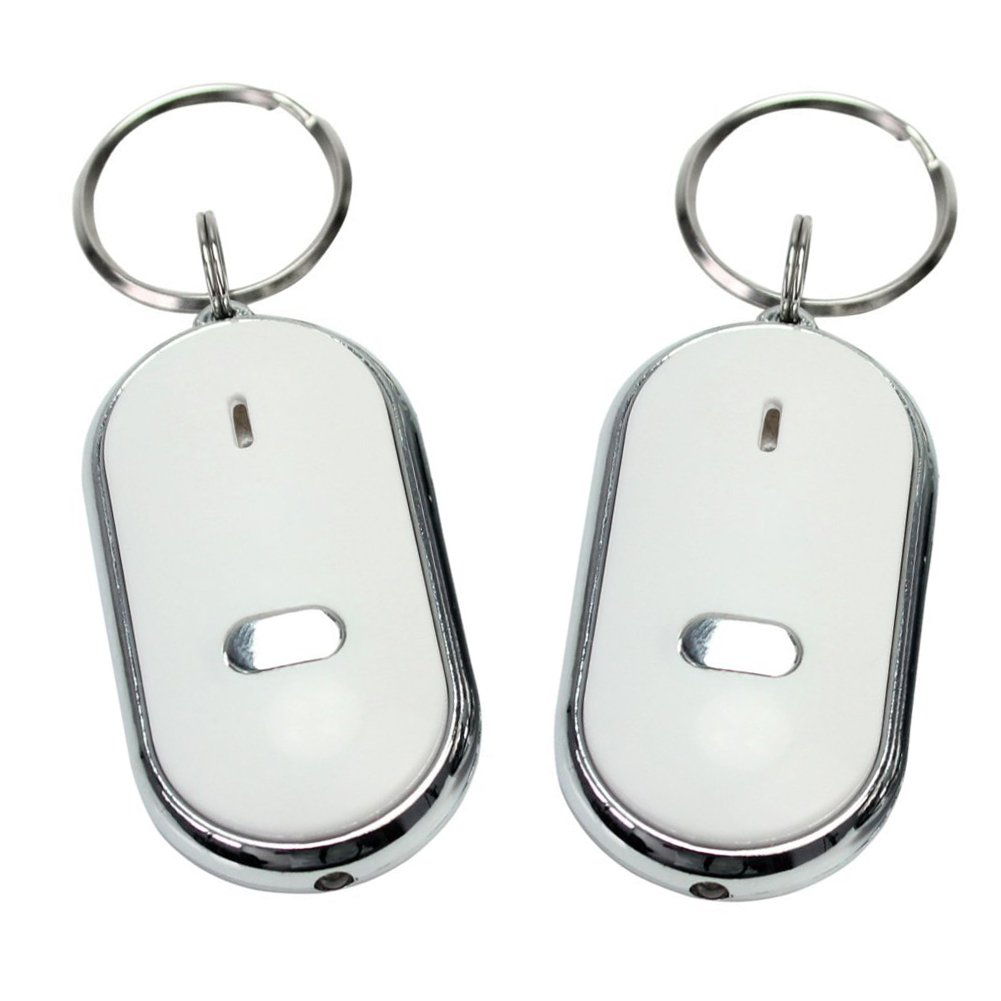 Homgaty 2 piezas LED anti-lost llavero localizador silbato ...
