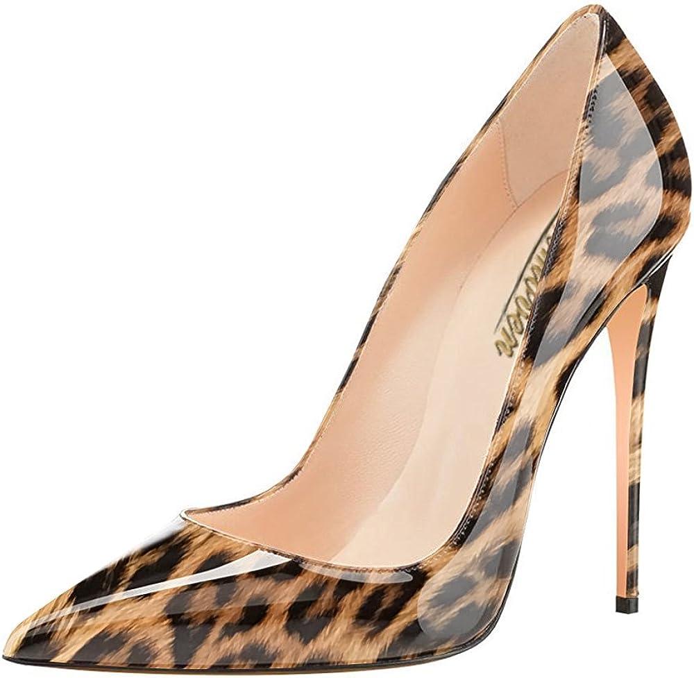 MODEMOVEN Women's Brown Leopard Pointy