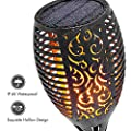 8 Packs LED Solar Outdoor Dancing Flickering Flames Torch Light Landscape Decoration Path Patio Driveway Garden Yard Waterproof Tiki Lantern Lamp