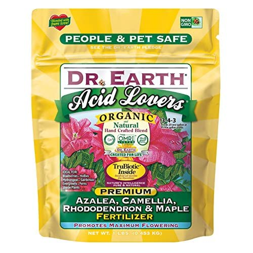 Top Dr. Earth 75557 1 lb 3-4-3 MINIS Acid Lovers Azalea, Camellia, Rhododendron and Maple Fertilizer free shipping