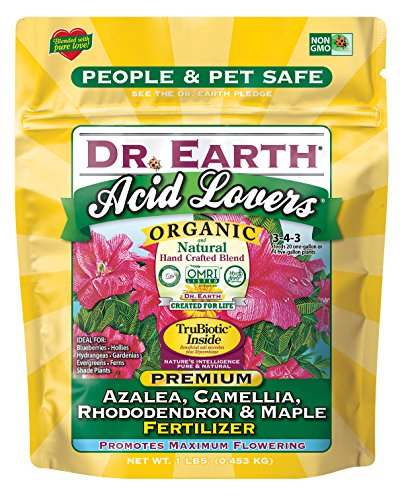 Dr. Earth Organic & Natural MINI Acid Lover Azalea, Camellia, Rhododendron & Maple Fertilizer ( 1 lbs ) (Best Soil For Azaleas)