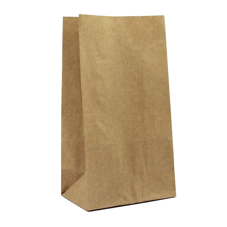 100er Pack Blockbeutel aus Kraftpapier braun Größe M Papiertüte Bodenbeutel Geschenktüte OLShop AG