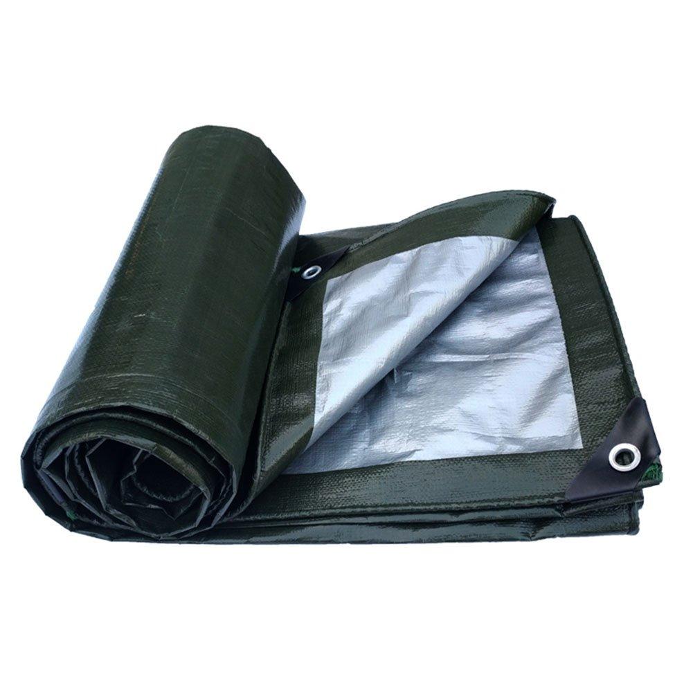 CHAOXIANG オーニング 防水テント厚い防水シェード耐摩耗性アンチエイジング耐食性耐寒性耐高温性軽量PEグリーン、180g/m2、厚さ0.35mm、20サイズ (色 : 緑, サイズ さいず : 8×8m) B07D34WMRH 8×8m|緑 緑 8×8m