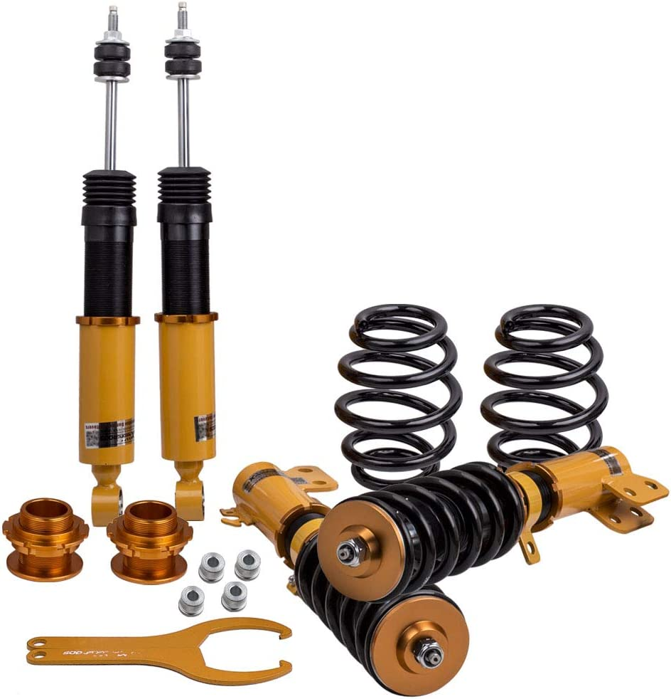 For Toyota Yaris 2013-2017 Coilovers Shocks Rear Front Adj Damper Spring Kits