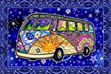 Hippie Bus Peace Van Tapestry by Dan Morris