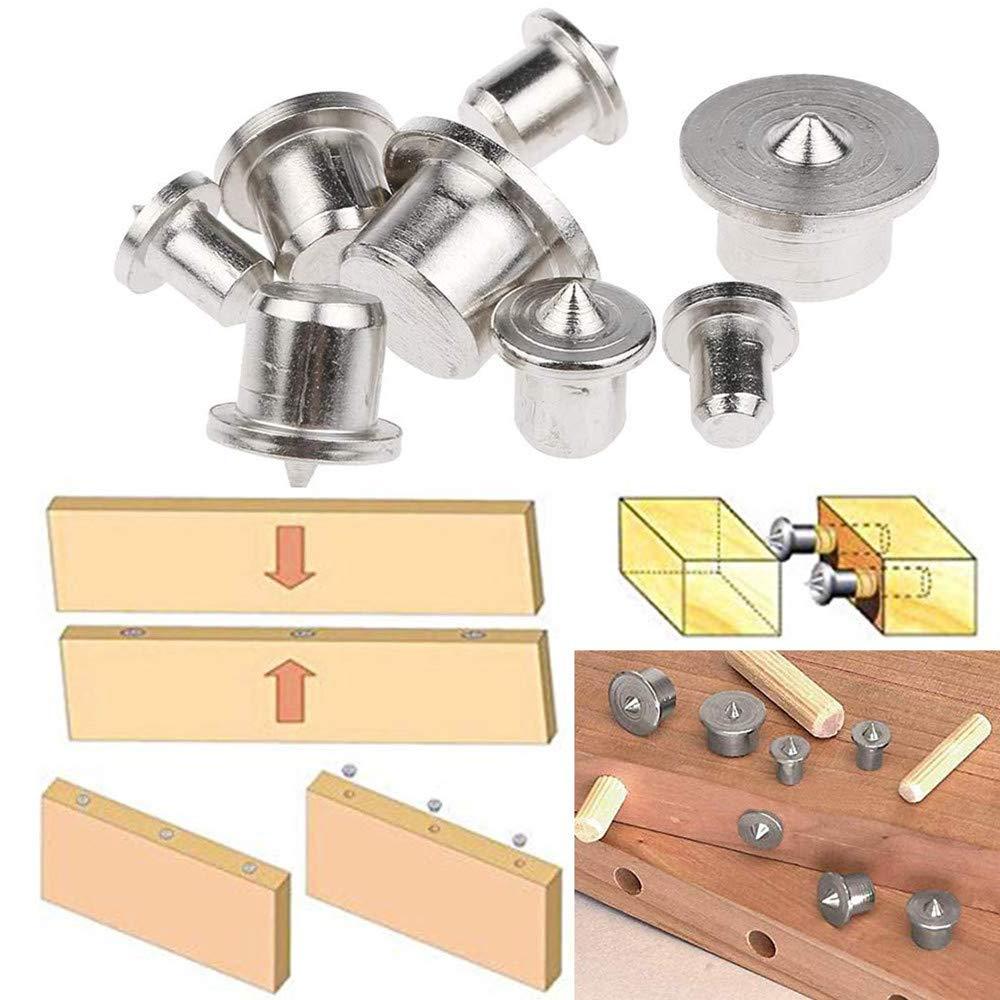 Ausrichtungswerkzeug f/ür Holzarbeiten Bohrwerkzeuge 12 mm D/übelstift f/ür Holzbearbeitung massiv 16 St/ück D/übel Zentrierspitze langlebig 6