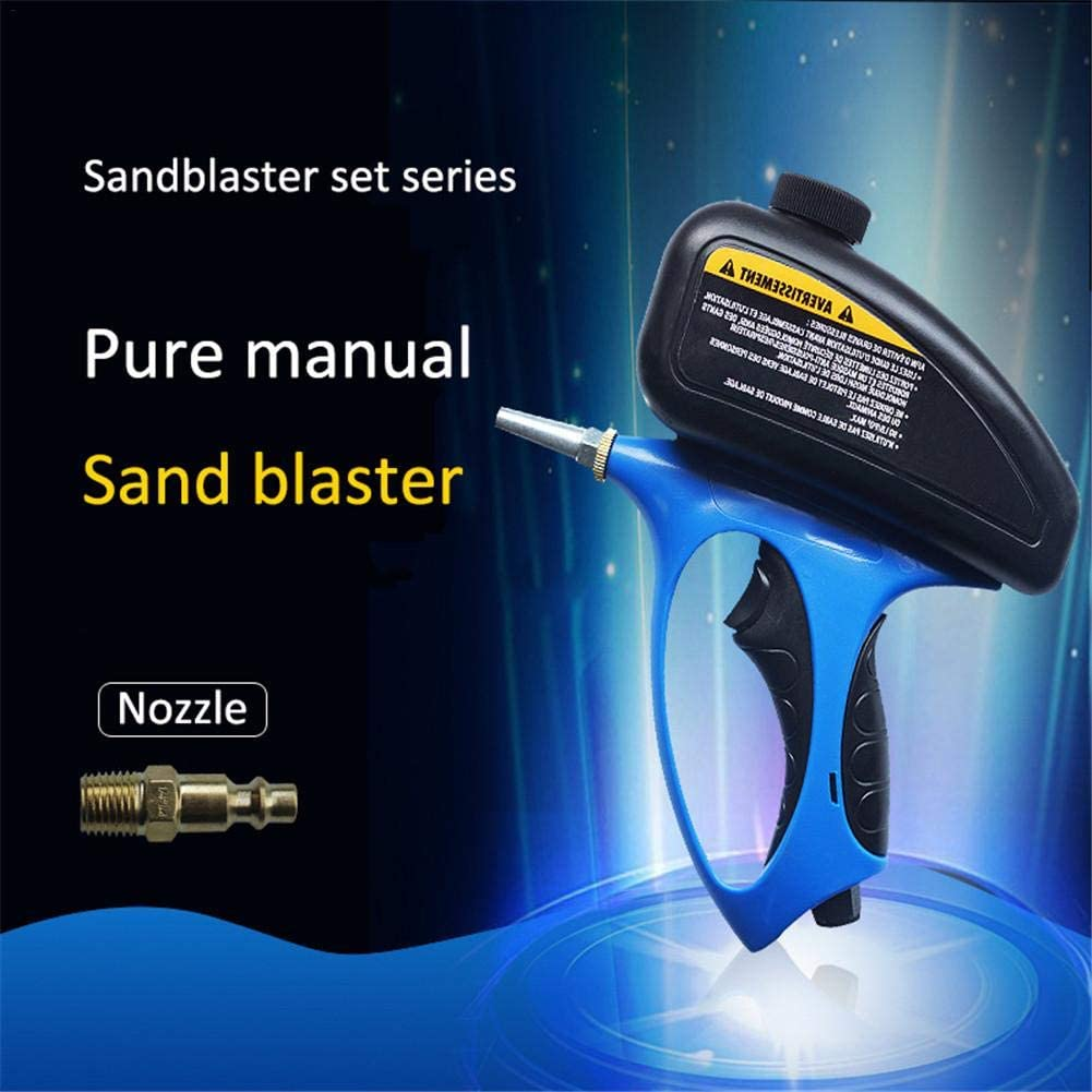 sycamorie Sandblaster Sableuse /À Main Antirouille Machine De Sablage De Pierre Tombale en Verre Comprim/é /À Lair avec Petite Buse