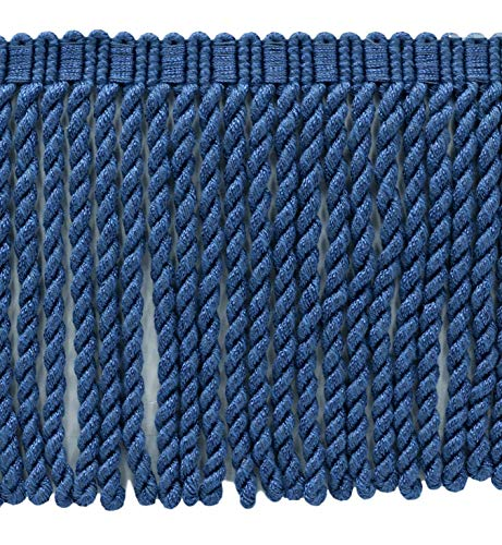 (DÉCOPRO 6 Inch Long|French Blue Bullion Fringe Trim|Style# BFSCR6|Color: M45|Sold by The Yard)