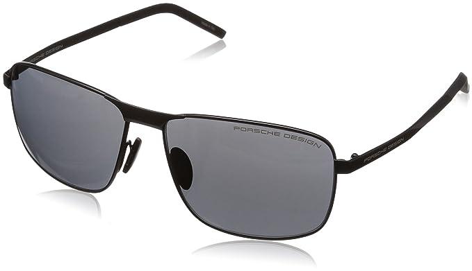 3042261ac104 Amazon.com  Porsche Design Men s P8643 P 8643 A Black Sunglasses ...
