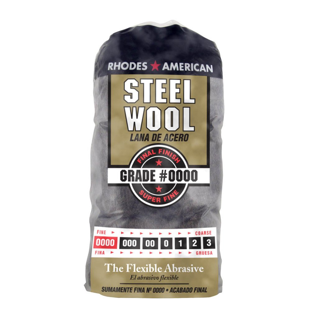 Steel Wool, 12 pad, Super Fine Grade #0000, Rhodes American, Final Finish PPG 10120000