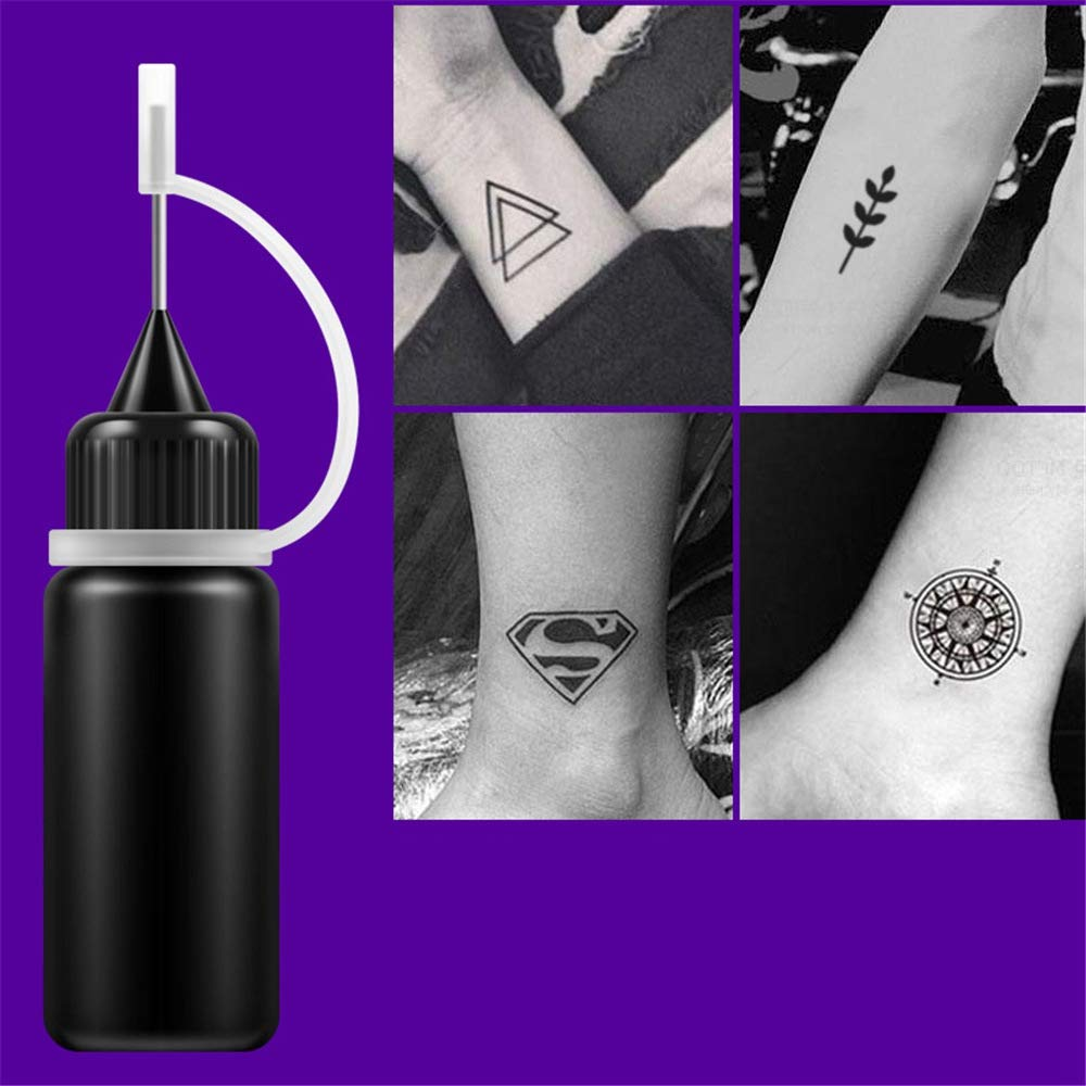 TOOGOO Tinta para Tatuajes Temporales Natural de Larga Duración ...