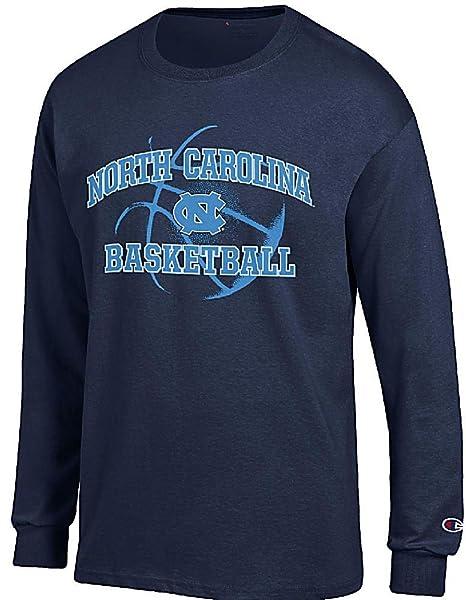 North Carolina Tar Heels Navy Basketball Long Sleeve T Shirt by Champion  (Small) 9df0260c6666