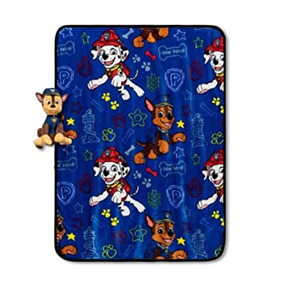 "Paw Patrol We Love Chase Blanket Set 40"" x 50"": Home & Kitchen"